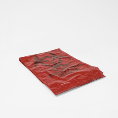 Red Hazardous Garbage Bags