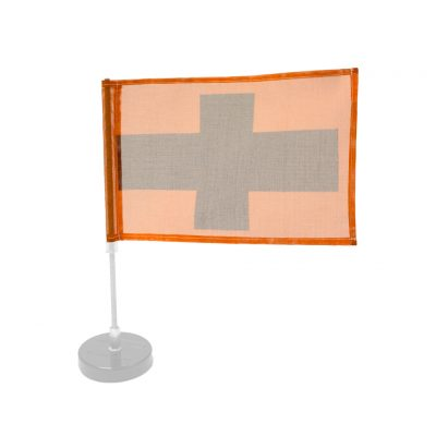 Banner Only, Orange w/Black Cross